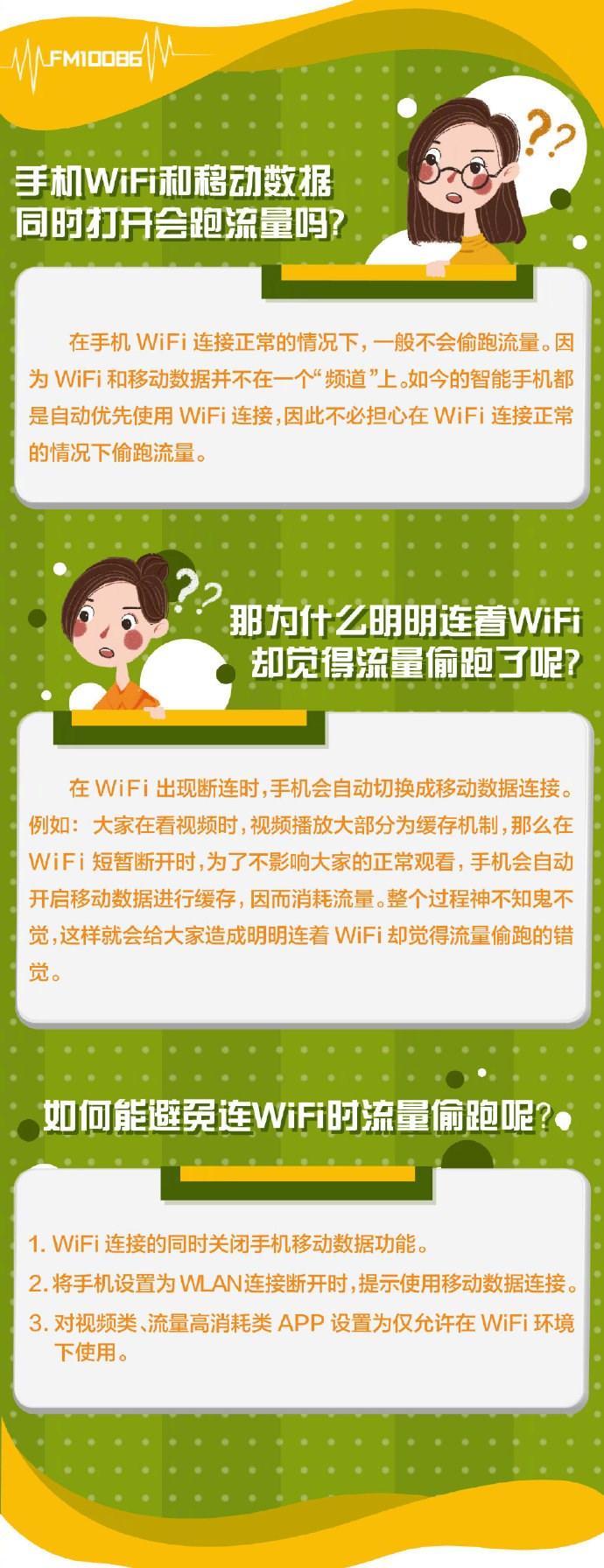 中国移动:手机连接Wi-Fi后要关闭移动网络吗