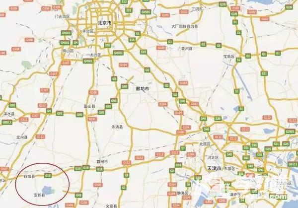 雄安新区地图规划图 雄安新区规划范围示意图高清 雄安新区详细规划图